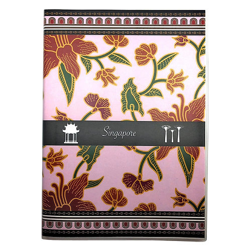 izakka Notebook batik light pink
