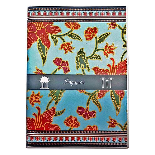 izakka Notebook batik light blue