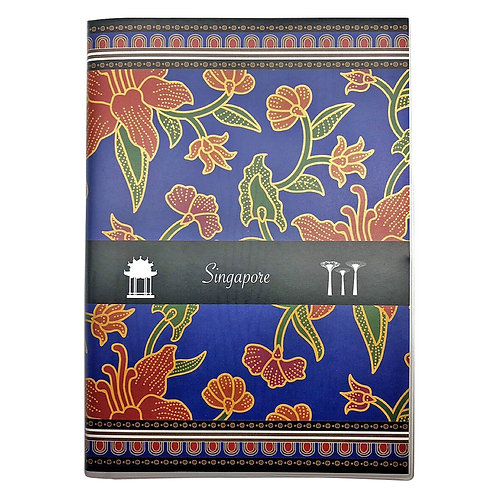 izakka Notebook batik blue