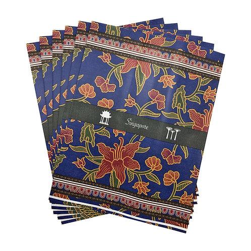 izakka paper gift bag batik blue
