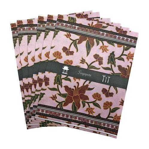 izakka paper gift bag batik light pink