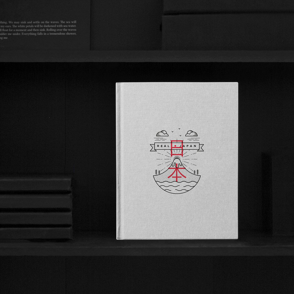 'Real Japan' photography logo and book design