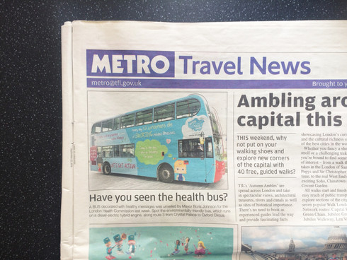 London health campaign book print and bus wrap
