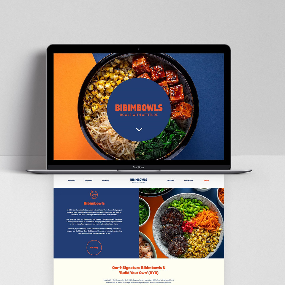 Bibimbowls website design