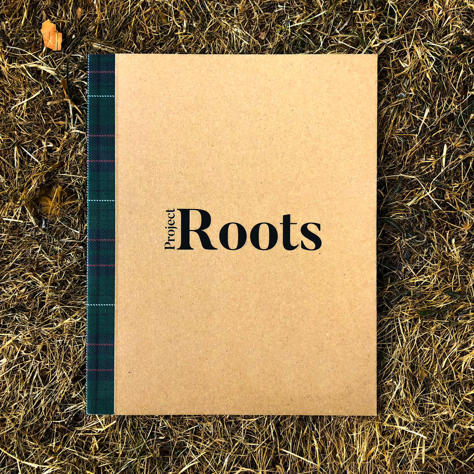 Project Roots branding and layout book