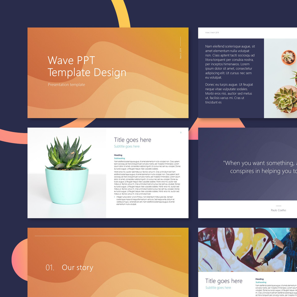 Wave PPT presentation design