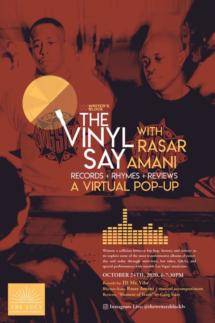 The Vinyl Say with Rasar Amani Returns withRecords + Rhymes + Reviews A Virtual Pop Up Spotlighting
