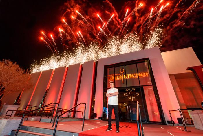 Gordon Ramsay Hell's Kitchen Restaurant at Caesars Palace Makes Fiery Debut!