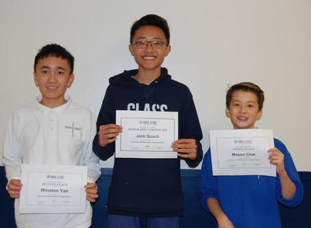 American Mathematics Competition Winners