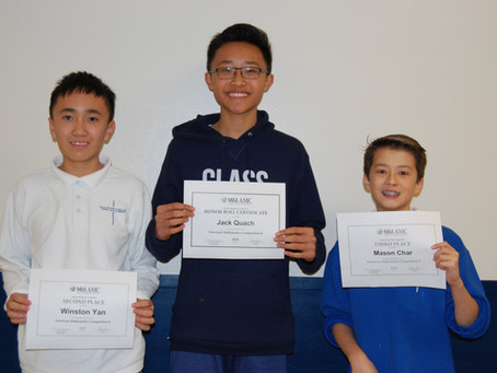American Mathematics Competition Winners