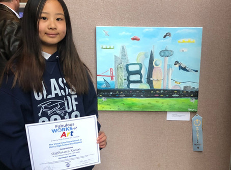 Mercy HS Art Contest: Stephanie Kwan takes Honorable Mention