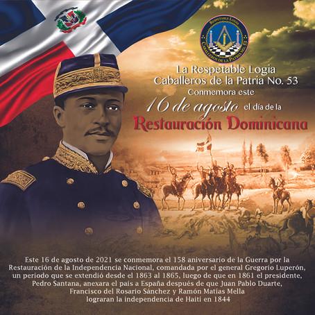 CDLP53 conmemora el 158 Aniversario de la Restauración Dominicana