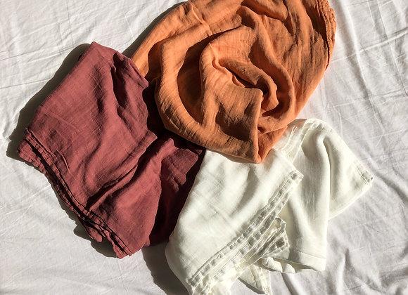 Swaddle Blanket - Rust