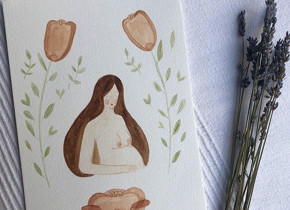 Motherhood Card - Brunette