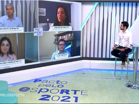 Pacto pelo Esporte 2021 ao vivo no Globo Esporte