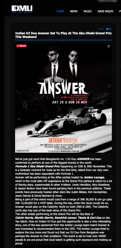 ANSWER for F1 Grand Prix Abu Dhabi - Amber lounge