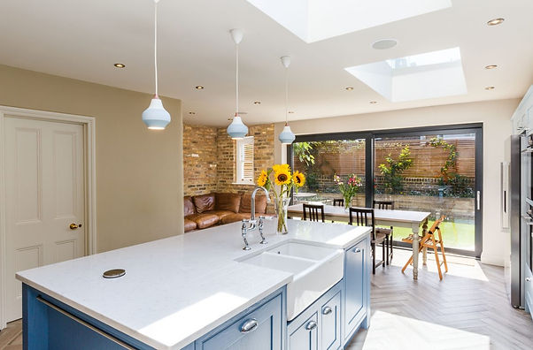 Open Plan Lounge Diner in Home Extension by ACG Builders in Worthing, West Sussex