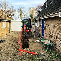 GROUNDWORKS CONTRACTOR ACG BUILDERS SUSSEX LTD DIGGING FOUNDATIONS FOR NEW HOME EXTENSION