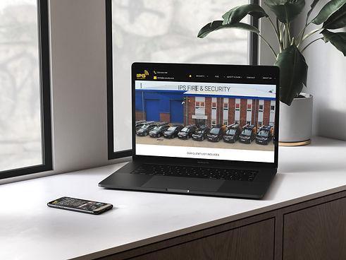 IPS Security Website on Macbook & Iphone