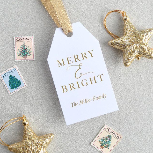 Merry & Bright Gift Tag (vertical)