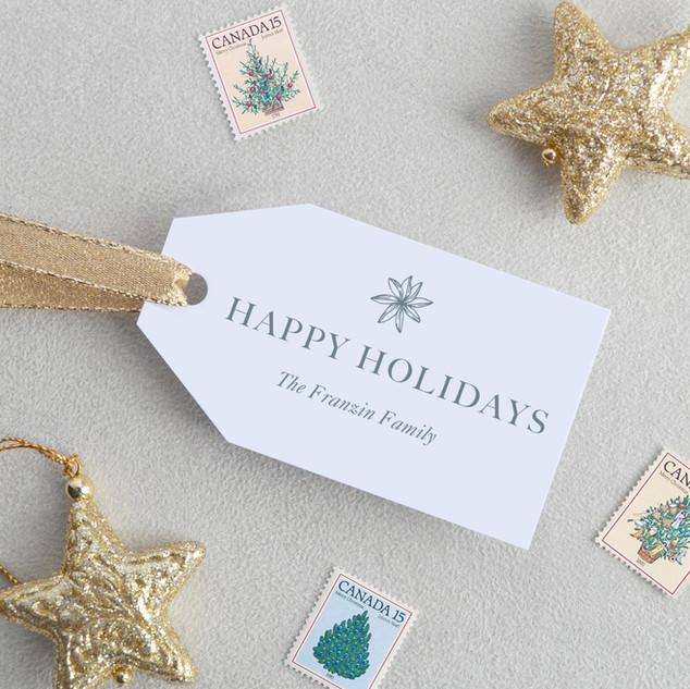 Happyy Holidays Gift Tags (Horizontal)