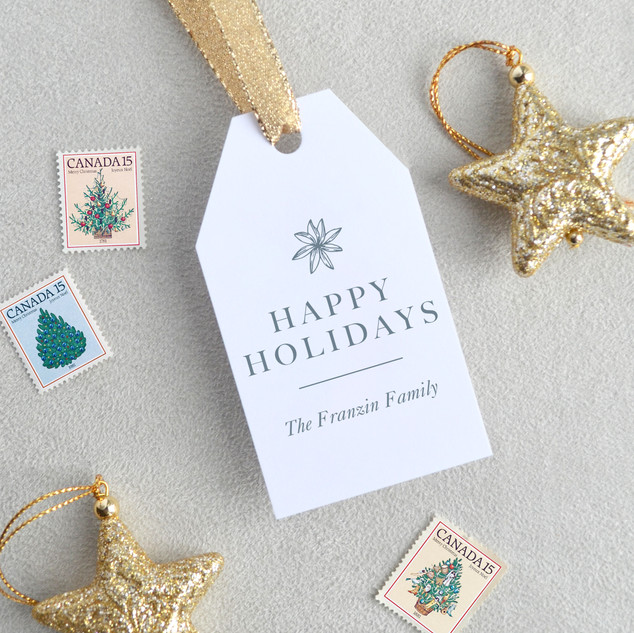 Happy Holidays Gift Tags (Vertical)