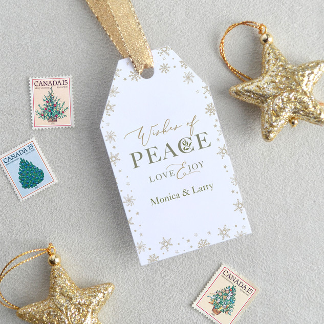 Peace, Love & Joy Gift Tags (Vertical)