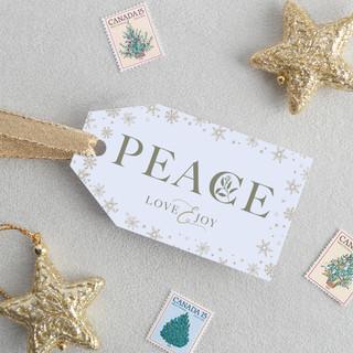 Peace, Love & Joy Gift Tags (Horizontal)