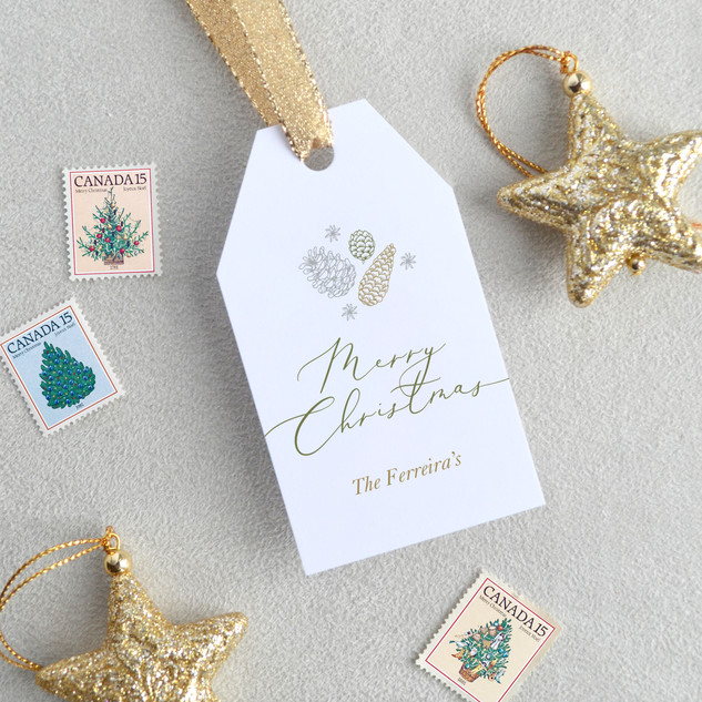 Merry Christmas Gift Tag (Vertical)