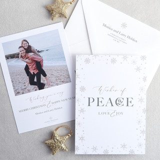 Peace, Love & Joy Photo Holiday Card