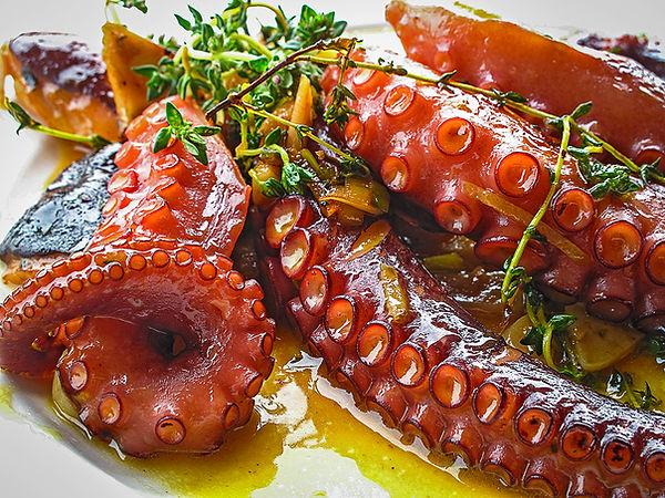 Gegrillter Oktopus mit Rosmarin