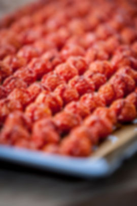 Getrocknete Tomaten auf Backblech