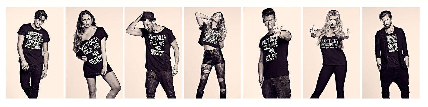 Modeshooting in diversen T-shirts von TPFL