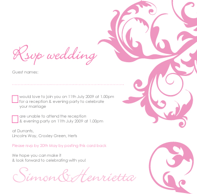 wedding invite - rsvp