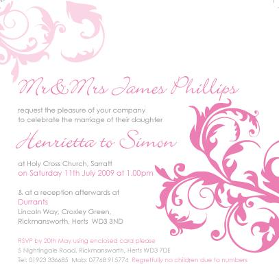 wedding invite - day