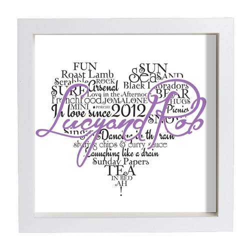 heart typo lilac