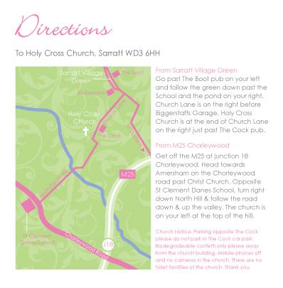 wedding invite - directions