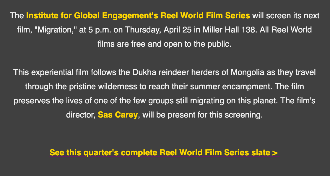 Reel World Film Series