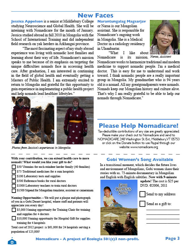 Nomadicare Newsletter 2011