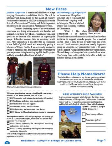 Nomadicare Newsletter 2011