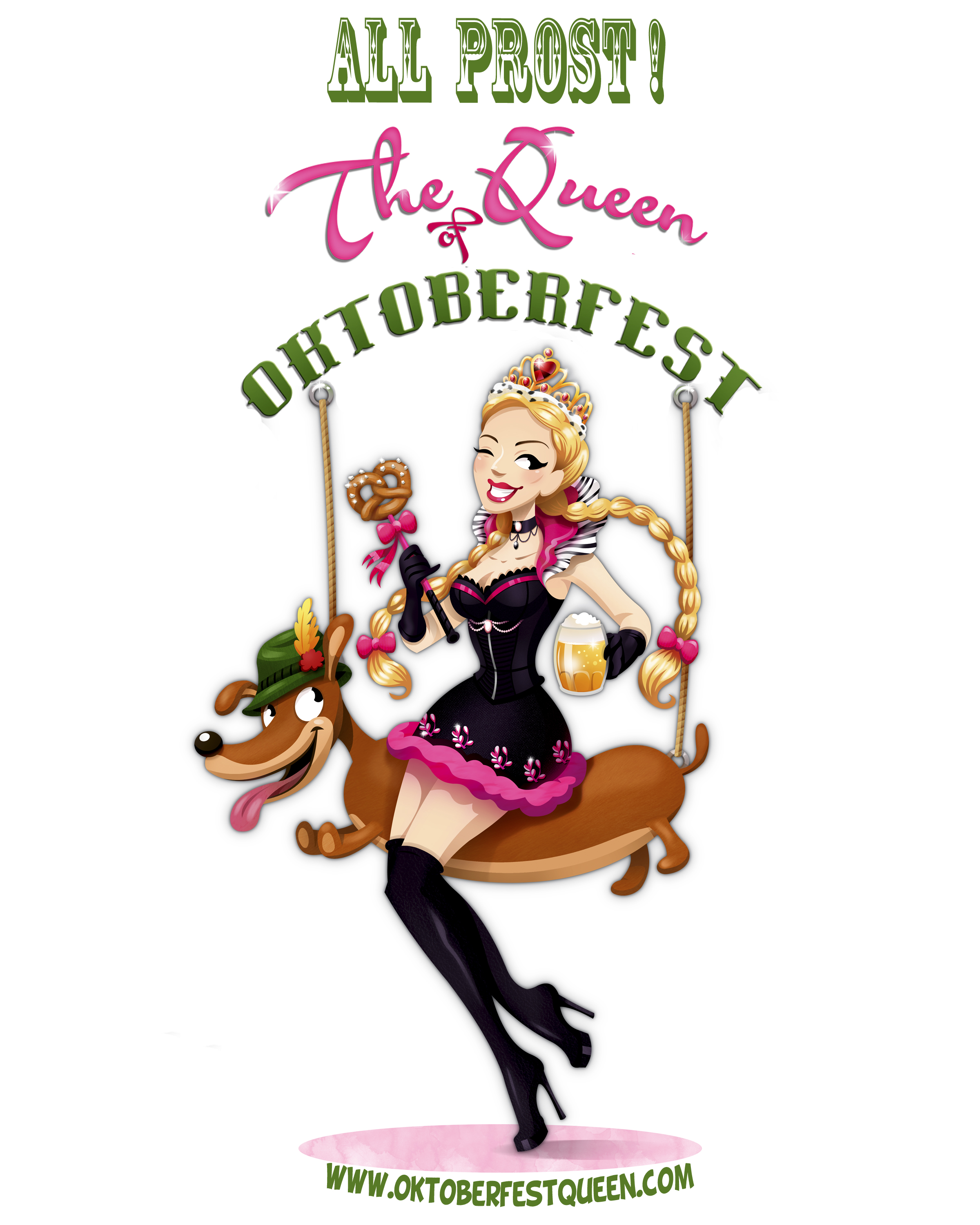 The Oktoberfest Queens Logo