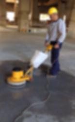 Pulido de pisos de cemento
