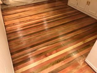 Terminación piso madera noble