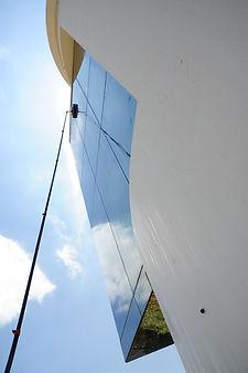 Limpieza de vidrios en altura