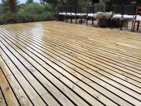 Resultado del trabajo pulido terraza