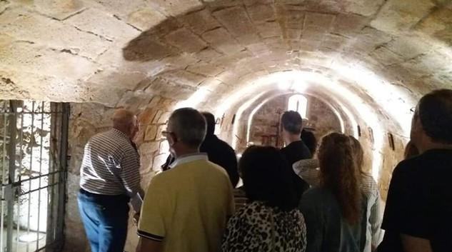 Cripta del Museo durante una visita