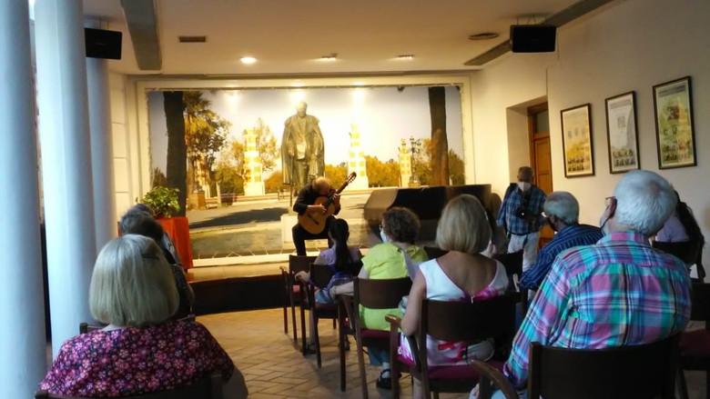 Vista de la sala de conciertos, durante el recital de guitarra de J. Francisco Ortiz
