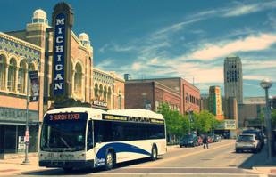 Shot of Michigan Theater Bus State Theater and Clocktower.JPG 2016-1-9-1:10:52