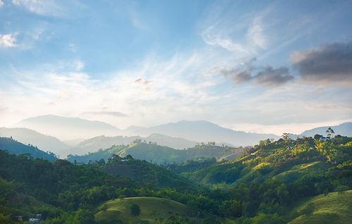 Kahvialueen maisema Kolumbiassa
