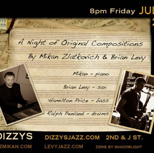 Night of Original Composition, with Jazz Mikan trio and Brian Levy
